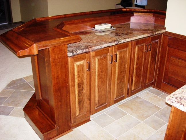 Custom Built Cherry Bar With Granite 3