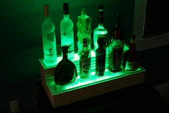 Custom liquor shelf
