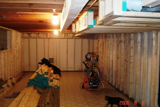 Framed basement walls1