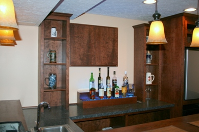 Led Liquor Shelf With Home Bar