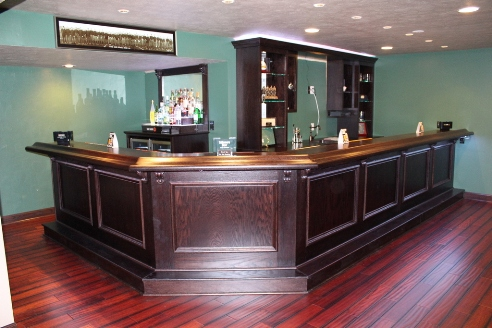 Attrayant Custom Built Home Bar Onyx Finish