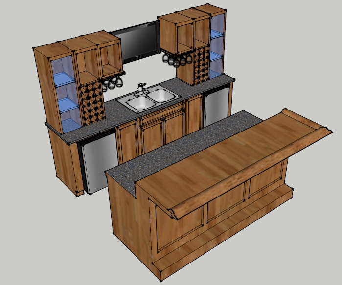 Custom built home bar ideas in ohio for Basement bar dimensions plans