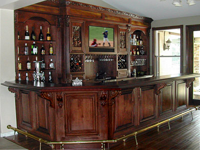 This Bar Is A Combination Of Back Wall Cabinets, Sink, And Front Surround  Cabinets. Extra Trim And Finish Include Inset (recessed) Front Skin Panels,  ...